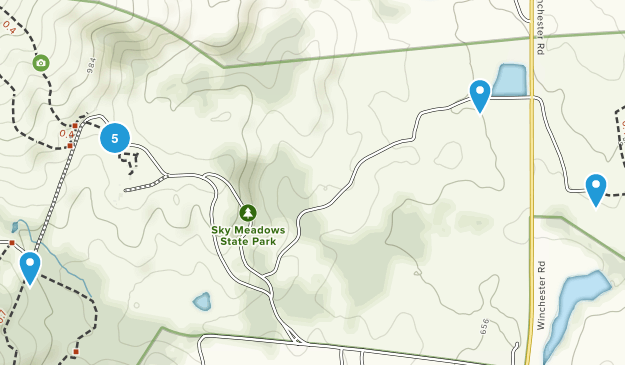 Sky Meadows State Park Nature Trips Map