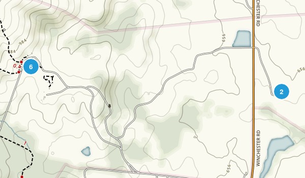 Sky Meadows State Park Trail Running Map
