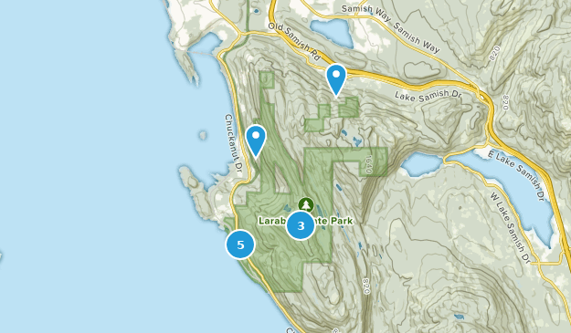 Larrabee State Park Hiking Map