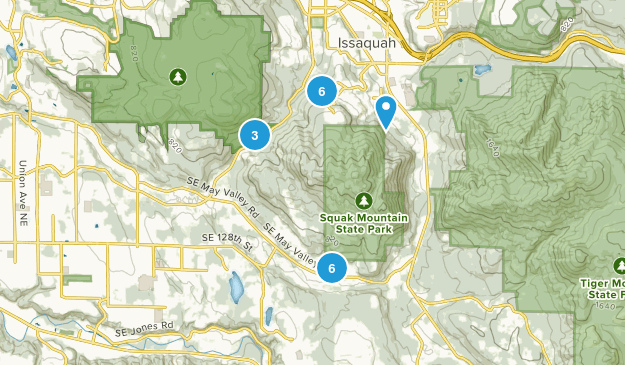 Squak Mountain State Park Hiking Map