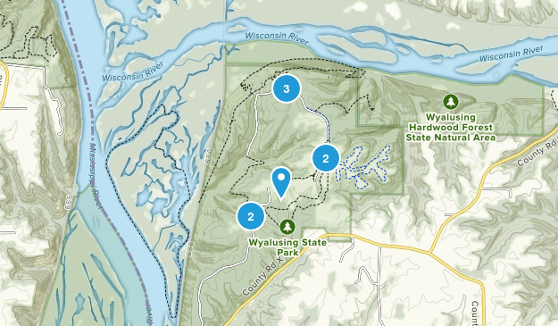 Wyalusing State Park Nature Trips Map