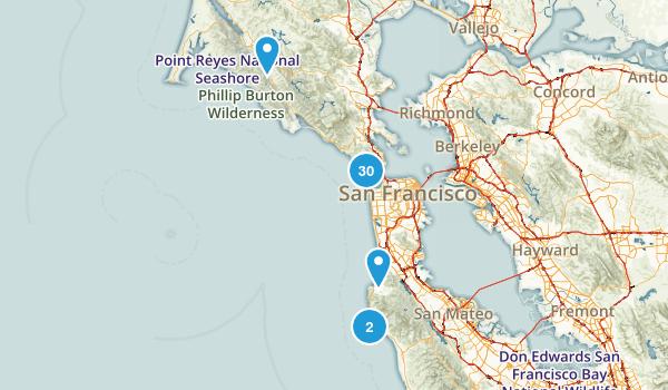 Golden Gate National Recreation Area Beach Map