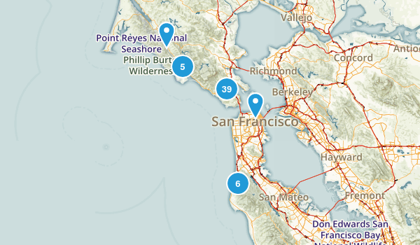Golden Gate National Recreation Area Nature Trips Map