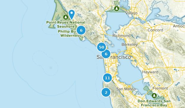 Zone de loisirs nationale du Golden Gate Nature Trips Map