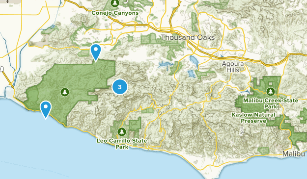 Santa Monica Mountains National Recreation Area Camping Map
