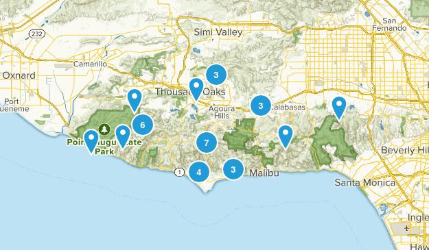 Santa Monica Mountains National Recreation Area Dogs On Leash Map