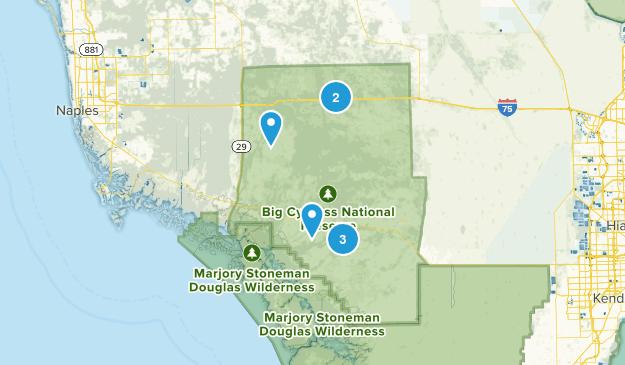 Big Cypress National Preserve Hiking Map