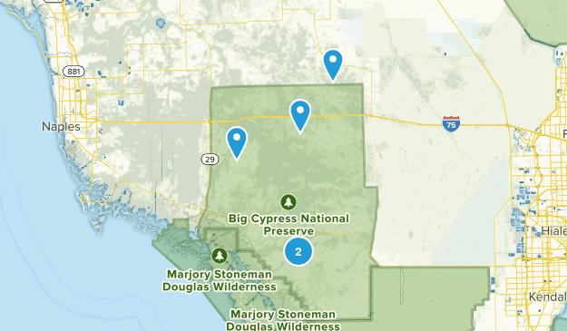 Réserve nationale de Big Cypress Nature Trips Map