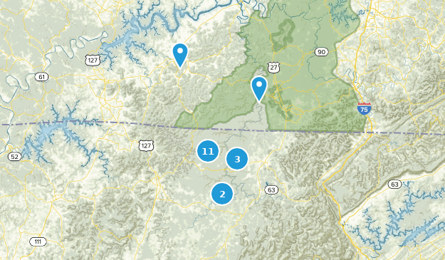 Big South Fork National River & Recreation Area Nature Trips Map
