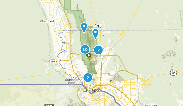 Franklin Mountains State Park Dog Friendly Map