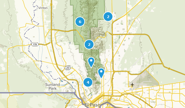 Franklin Mountains State Park Dogs On Leash Map