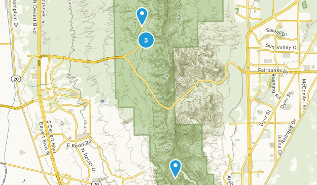 Franklin Mountains State Park Rock Climbing Map