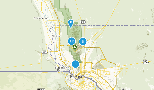 Franklin Mountains State Park Walking Map