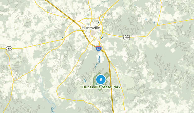 Huntsville State Park Nature Trips Map