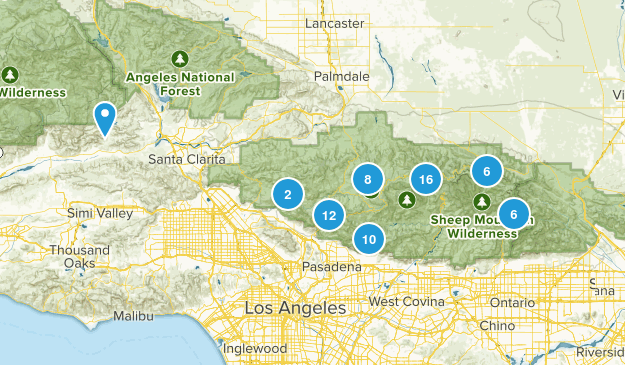 Angeles National Forest Camping Map