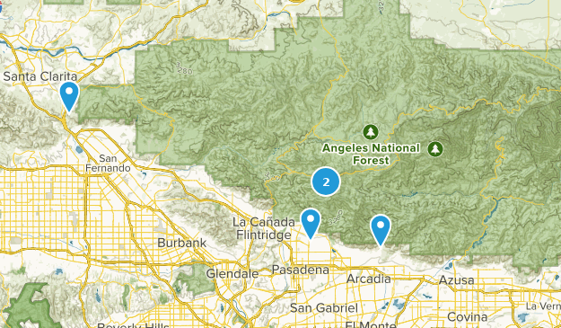 Map Of Trails Near Angeles National Forest California Alltrails