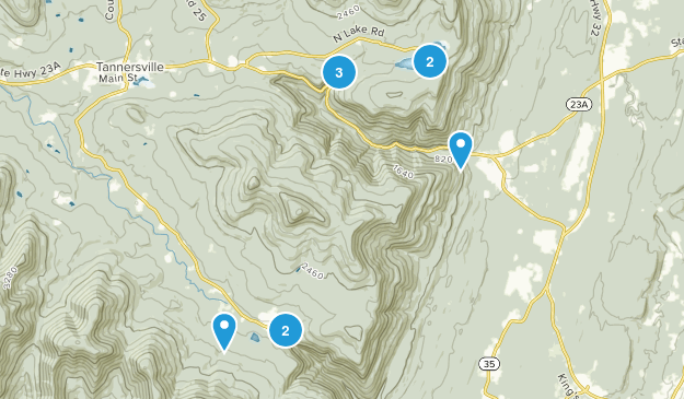 Kaaterskill Wild Forest Nature Trips Map