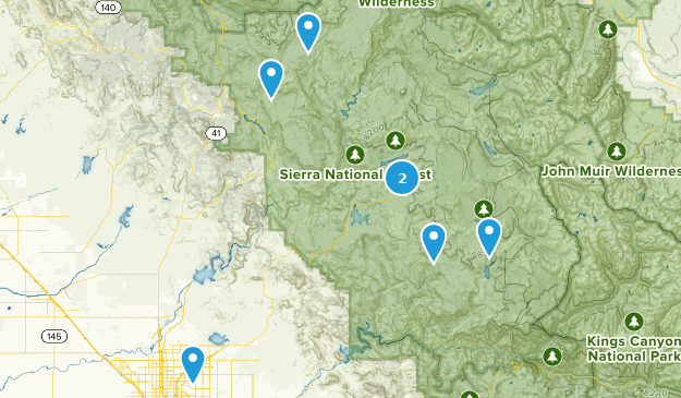 Sierra National Forest Scenic Driving Map