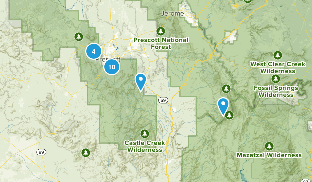 Prescott National Forest Wildlife Map