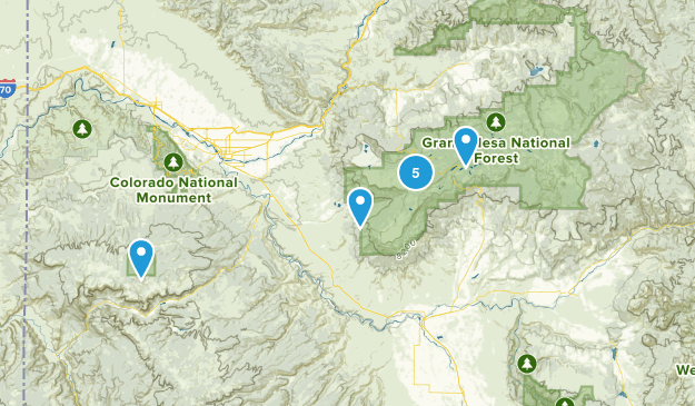 Grand Mesa National Forest Lake Map