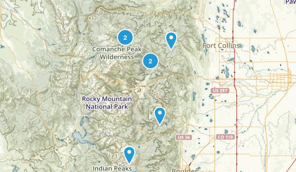 Roosevelt National Forest Backpacking Map