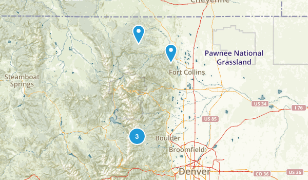 Roosevelt National Forest Fly Fishing Map