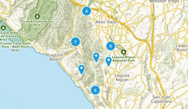Aliso And Wood Canyons Regional Park Hiking Map