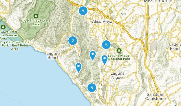 Parc Régional Aliso Et Wood Canyons Hiking Map