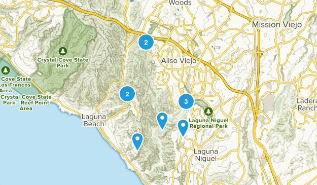 Aliso And Wood Canyons Regional Park Mountain Biking Map