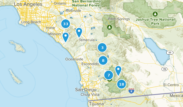 Map of Trails near Cleveland National Forest - California   AllTrails