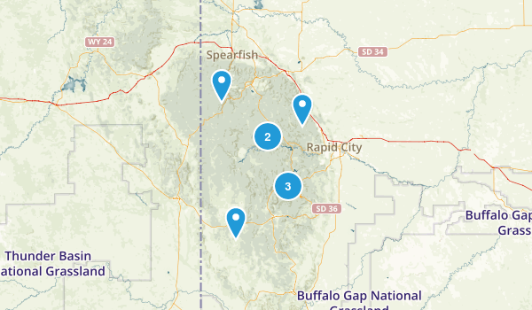 Best River Trails In Black Hills National Forest Photos - Black hills national forest on us map