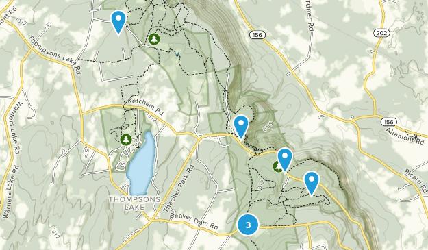 John Boyd Thacher State Park Hiking Map