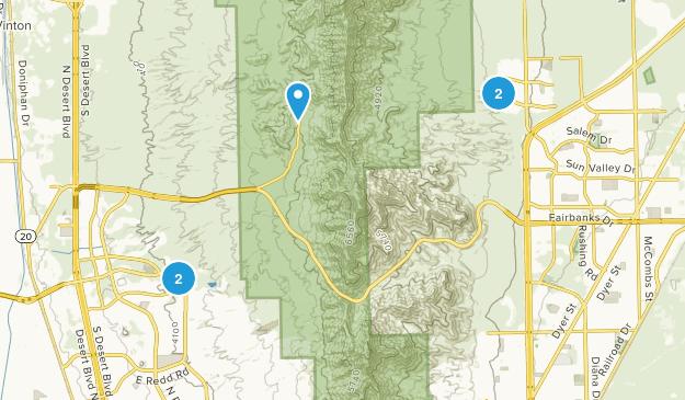 Tom Mays Park Hiking Map