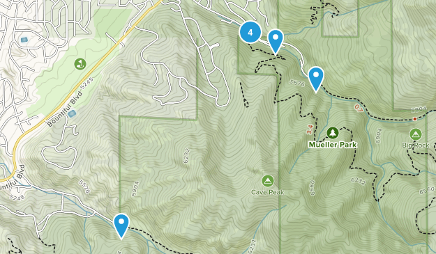 Mueller Park Nature Trips Map