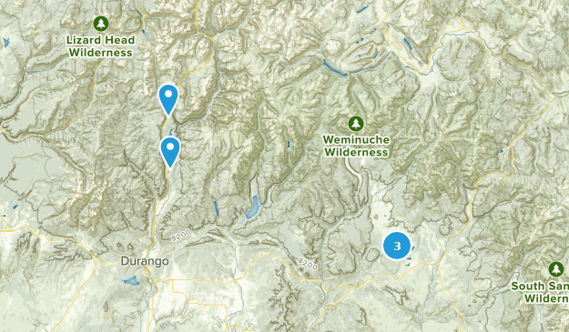 San Juan National Forest Cross Country Skiing Map