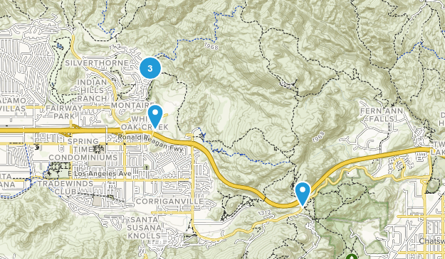Rocky Peak Park Nature Trips Map