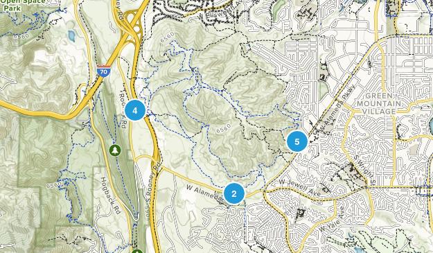 William F Hayden Green Mountain Park Birding Map