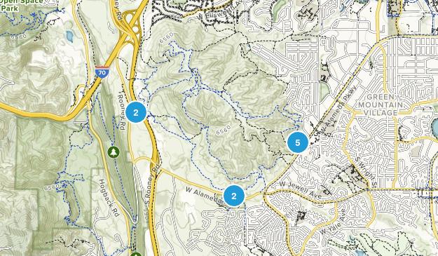 William F Hayden Green Mountain Park Mountain Biking Map
