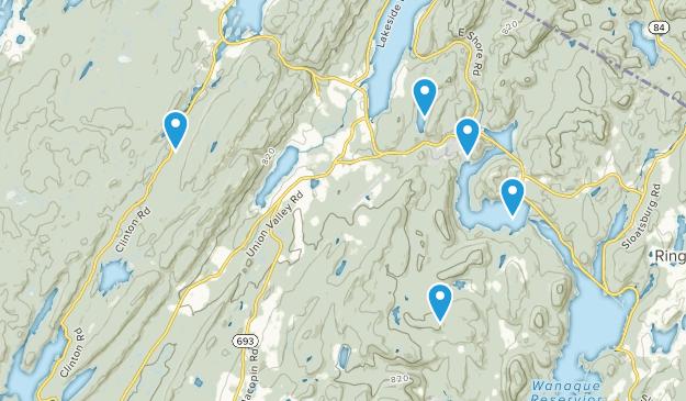 Parc d'État Ironworks Long Pond Nature Trips Map