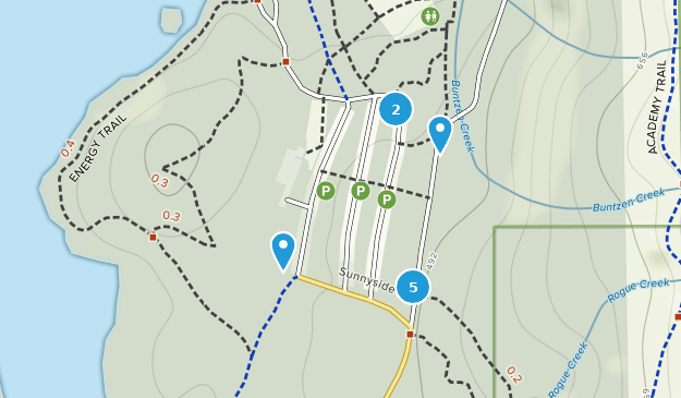 Parc du réservoir du lac Buntzen Hiking Map