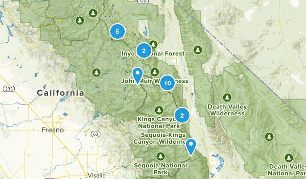 John Muir Wilderness Camping Map