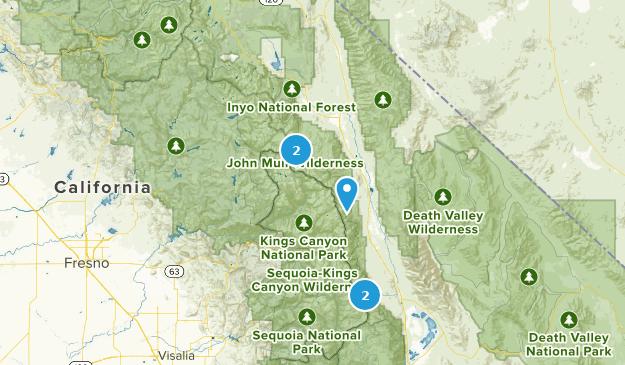 John Muir Wilderness Rock Climbing Map