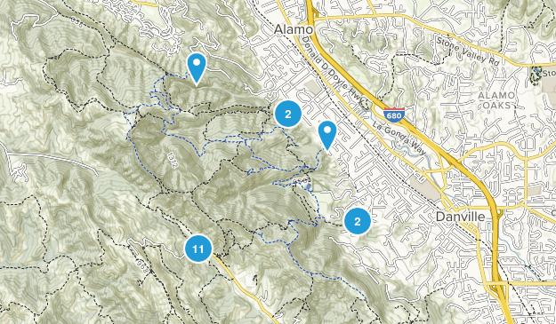 Las Trampas Regional Park Walking Map