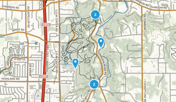 North Chagrin Metropolitan Park Dogs On Leash Map