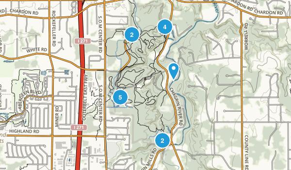 North Chagrin Metropolitan Park Hiking Map