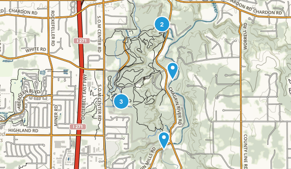 North Chagrin Metropolitan Park Trail Running Map
