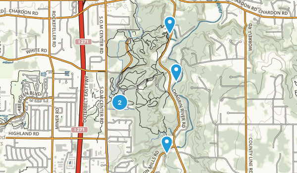North Chagrin Metropolitan Park Wild Flowers Map