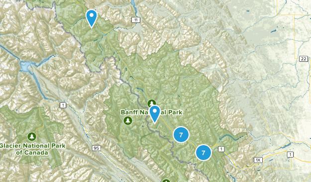 Banff National Park Snowshoeing Map