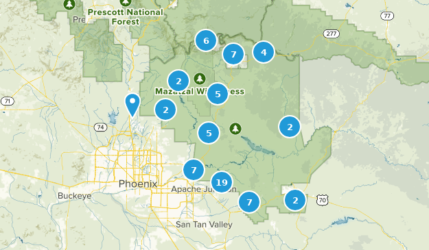 Tonto National Forest Birding Map