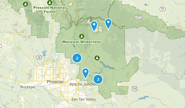 Tonto National Forest Fishing Map